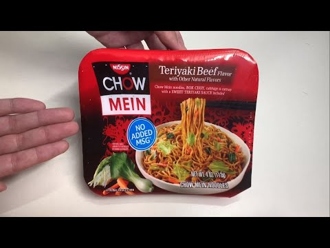 Nissin Chow Mein Teriyaki Beef Flavor Noodles Unboxing Youtube
