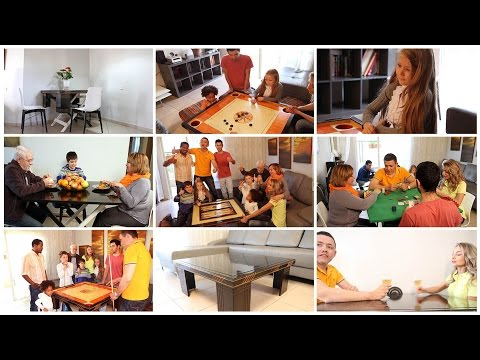 Multifunctional smart table: coffee table, bar table, dining table, games tables. nois.co.il
