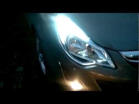 new opel corsa 2011 smd 5050 led T20 светодиодные габаритные огни