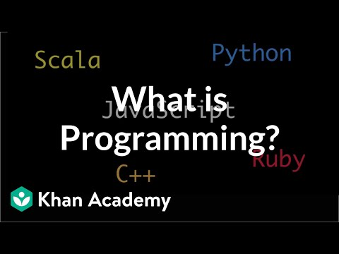 What is Programming? | Intro to JS: Drawing & Animation | Compute programming | Khan Academy