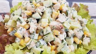 Легкий салат из Огурцов ☆Исчезает со стола мгновенно👍