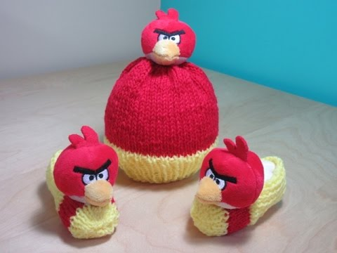 How To Knit Angry Birds Hat For Beginners Youtube