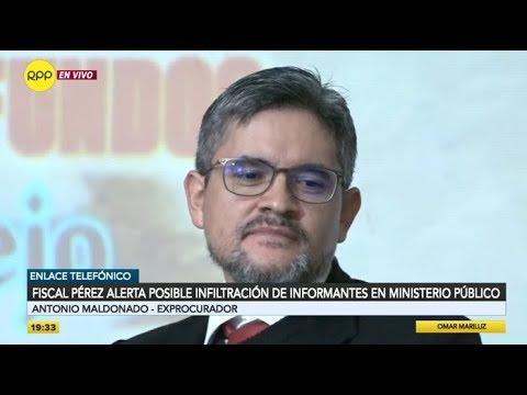 Fiscal Domingo Pérez alerta posible infiltración de informantes en el Ministerio Público