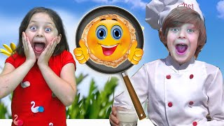 Pancakes for My Mom | Learn cooking with Five kids Family | Kids Song & Nursery rhymes by Chiki-Piki