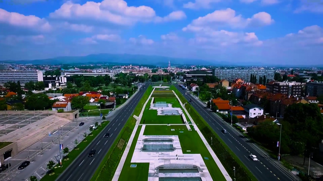Croatia Drone Zagreb Fontane Fpv Color Corrected Youtube