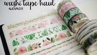 AliExpress Washi Haul and Unboxing
