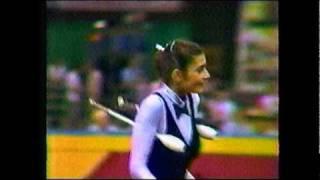 1986 Goodwill Games Rhythmic Gymnastics Ball & Clubs [1 of 2]