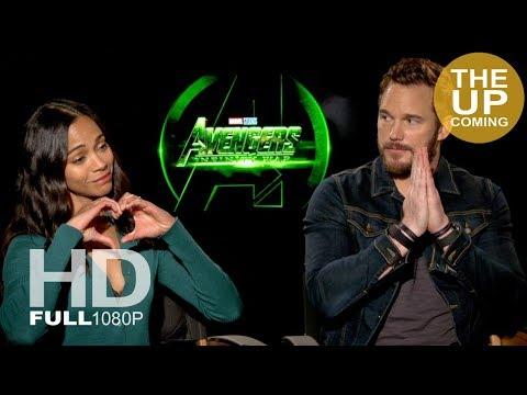 Chris Pratt and Zoe Saldana Avengers Infinity War interview