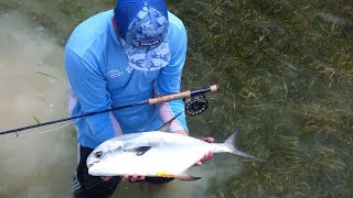 One Morning Fly Fishing in the Florida Keys -A Tarpon and my 1st Permit