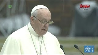 Przemówienie papieża Franciszka o broni nuklearnej