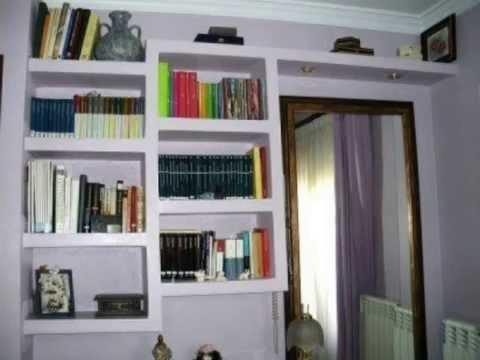Muebles hechos con pladur youtube - Muebles de mamposteria de salon ...