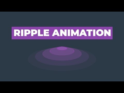 Ripple Animation Using Only HTML & CSS