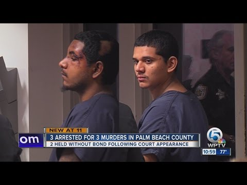 No bond for 2 men charged in 3 recent Palm Beach County homicides