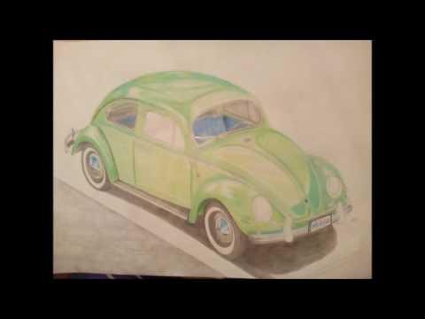 Realistic Car Drawing Step By Step - Volkswagen Beetle