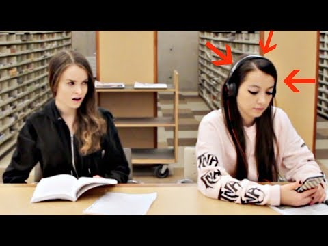 Download Youtube: Blasting EMBARRASSING Songs in the Library PRANK!
