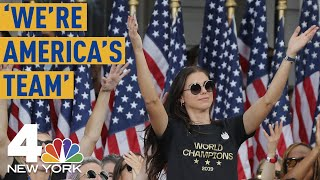 World Cup Parade 2019: USWNT Star Alex Morgan Says 'We're America's Team' | NBC New York