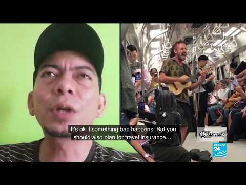 Buskers on Singapore train draw backlash from locals