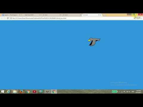 BIRD FLYING ANIMATION USING PURE CSS