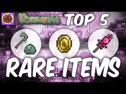 Terraria 1.3 Top 5 Rarest Items - Rare Weapons Pets - 동영상