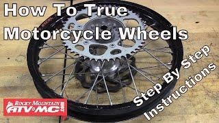 How To True A Motorcycle Wheel | Rocky Mountain ATV/MC