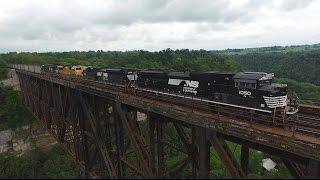 Norfolk Southern at High Bridge (Drone Video)