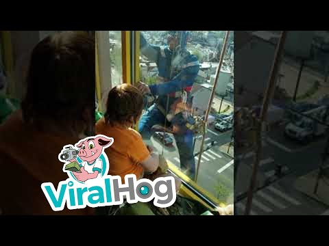 Woody's World - WATCH: Superhero Window Washer Visits Boy In Hospital