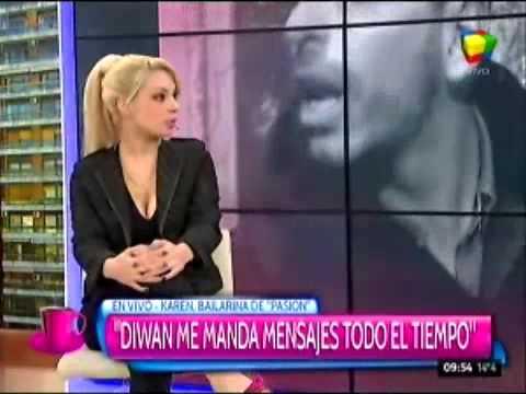 Bailarina de Pasión de sábado denunció en televisión que es acosada por Ariel Diwan