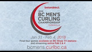 2018 BC Men's Curling Championship Final - Geall vs. Cotter