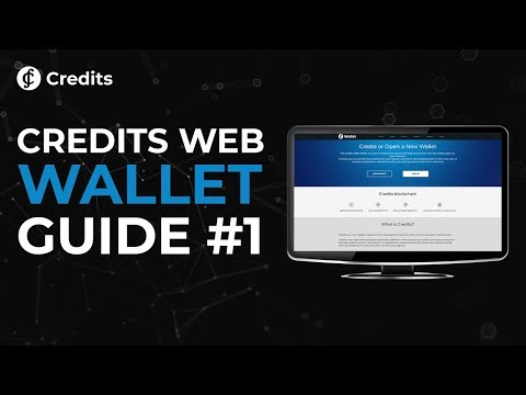 Credits Crypto Web Wallet Tutorial #1