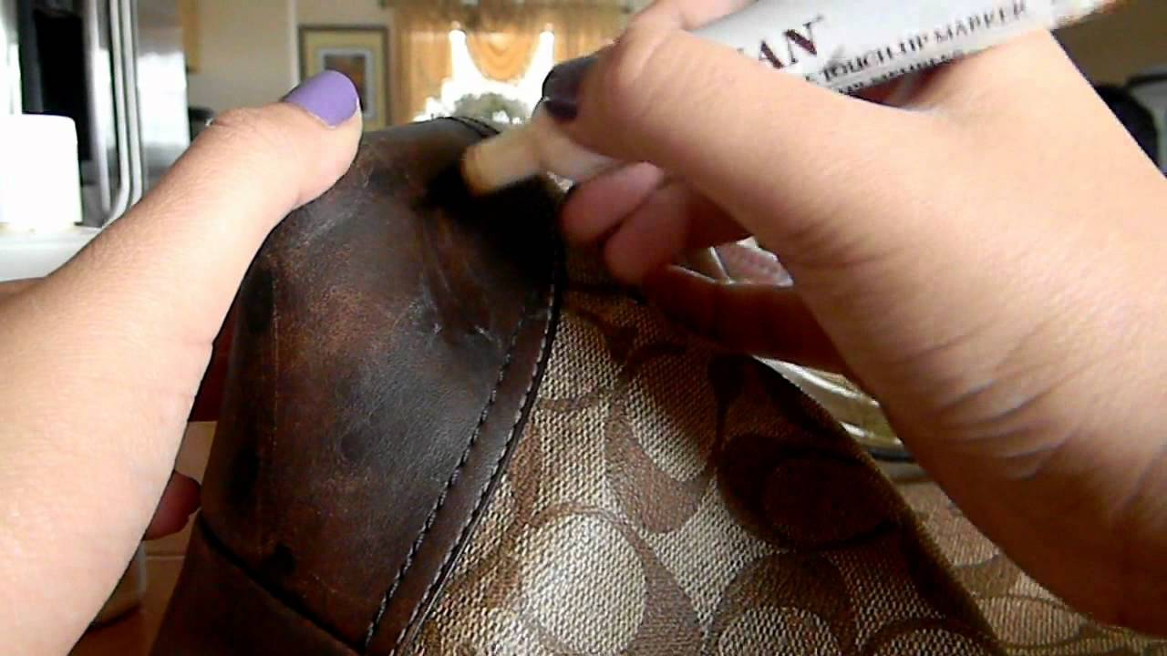 How To Fix Scratched Spotted Leather On Coach Bags Youtube