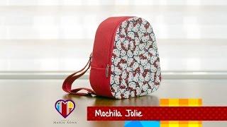 Bolsa mochila infantil em tecidos Jolie- Maria Adna Ateliê
