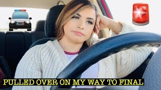 GETTING PULLED OVER ON MY WAY TO FINAL EXAM|| drive with me!