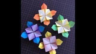 折り紙で作る紫陽花です。 少し難しいかもしれませんが挑戦してみてくだ...
