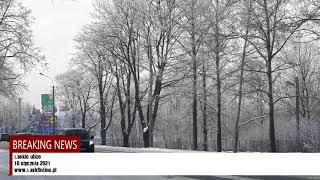 Łaskie ulice zimą