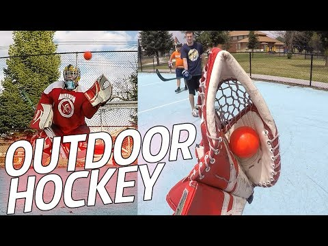 GoPro Outdoor Hockey - GOALIE CAM!! - FUNNY MOMENTS #2 (HD)