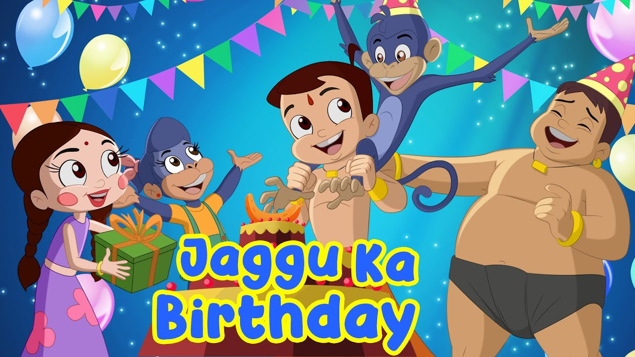 Download Chhota Bheem - Jaggu Ka Birthday | Adventure Videos for Kids in Hindi | Cartoons for Kids