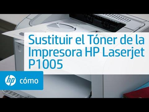 Sustituir el Tóner de la Impresora HP Laserjet P1005 | HP Printers | HP
