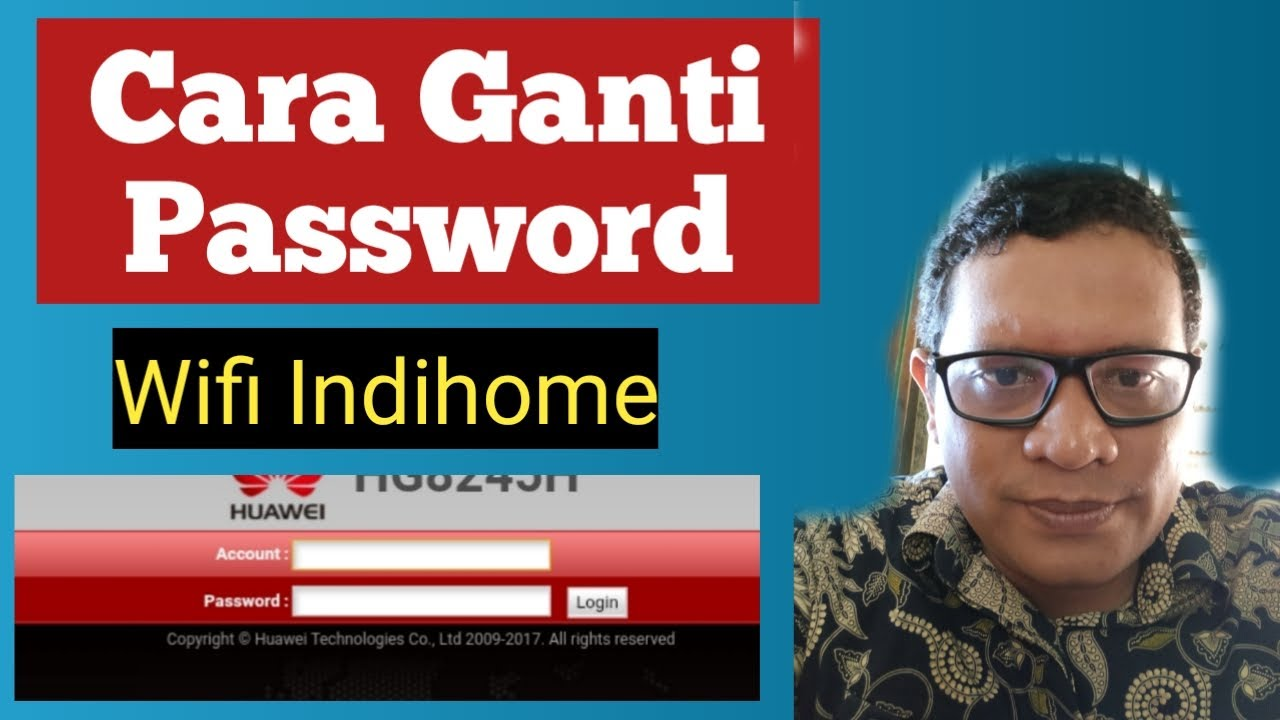 Cara Ganti Password Wifi Indihome - YouTube