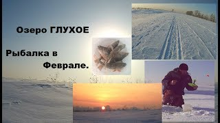 Зимняя рыбалка на озере Глухое Февраль Рыбалка на окуня 2020 Winter fishing in Siberia
