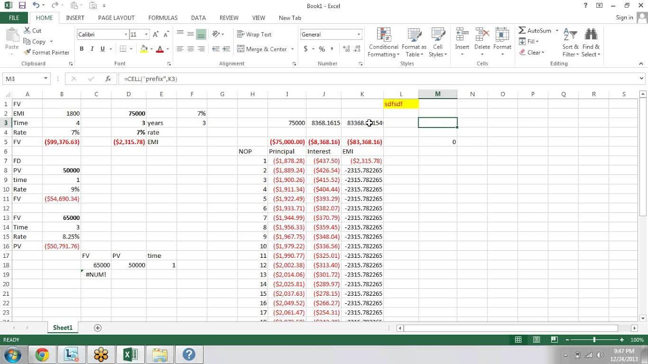 microsoft excel financial formula advanced youtube