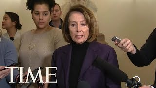 Nancy Pelosi Accuses Trump Of Endangering Security By Leaking Afghanistan Travel Plans | TIME