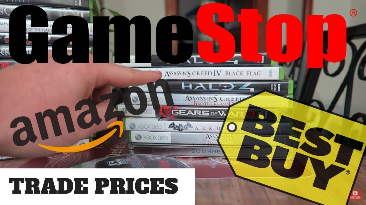 best video game trade in prices gamestop vs amazon vs best buy youtube. Black Bedroom Furniture Sets. Home Design Ideas