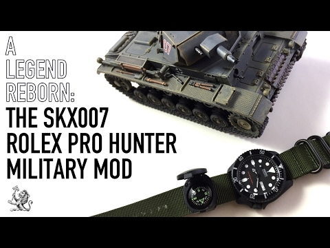 The Seiko SKX007 Legend Reborn - Rolex Submariner Pro Hunter Military Stealth Mod - Watch Review