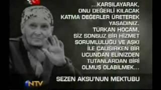 Sezen Aksu'nun Türkan Saylan'a Mektubu