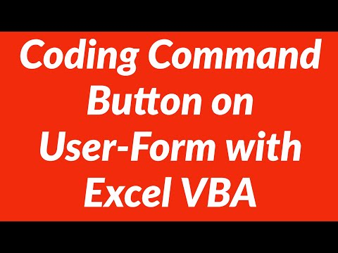 Coding Command Button on Userform Excel VBA