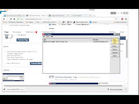 how to open vce file without visual certexam suite