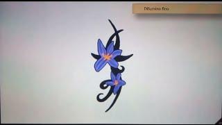 Como dibujar flores 2 - Art Academy Atelier Wii U | How to draw flowers 2