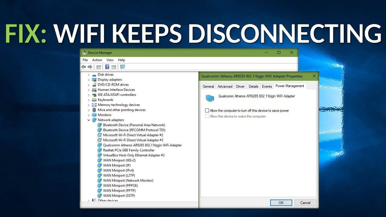 FIX: WiFi Keeps Disconnecting - YouTube