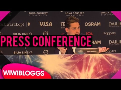 "Press conference: Douwe Bob ""Slow Down""  The Netherlands @ Eurovision 2016 