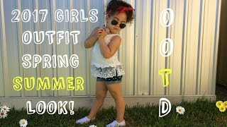 LITTLE GIRLS SPPRING SUMMER FASHION LOOK OUTFIT OF THE DAY